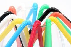 Many plastic straws Stock Photo