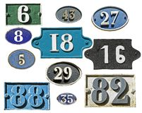 Many plates address numbers Royalty Free Stock Photography