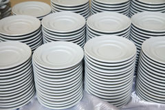 Many  plates stacked together Stock Photo