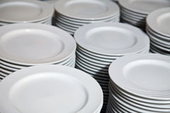 Many plates stacked together Royalty Free Stock Photos