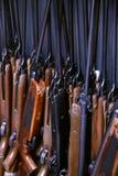Many pneumatic air rifle on training Royalty Free Stock Photo