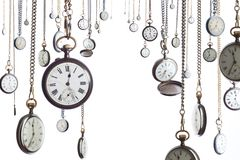 Many pocket watches royalty free stock photo