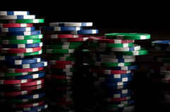 Many poker chips Royalty Free Stock Image