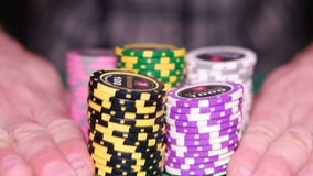 Many poker chips. HD
