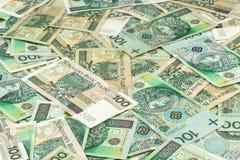 Many polish banknotes Royalty Free Stock Images