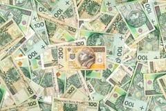 Many polish banknotes Royalty Free Stock Image