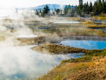 West Thumb Geysesr Basin of Yellowstone NP Royalty Free Stock Images