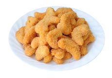 Many popcorn shrimp Royalty Free Stock Photos