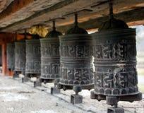 Many prayer wheels Royalty Free Stock Photography