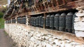 Many prayer wheels Royalty Free Stock Image