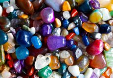 Many precious stones in the sunlight Royalty Free Stock Image
