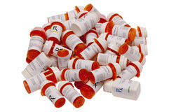 Many Prescription Bottles Royalty Free Stock Photos