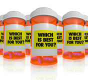 Many Prescription Bottles - Which Medicine Is Best Royalty Free Stock Photography