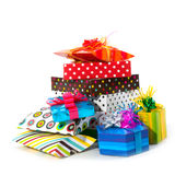 Many presents Stock Images