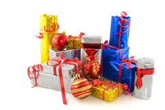 Many presents for christmas Royalty Free Stock Images