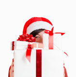 Many presents for friends on Christmas Stock Photo