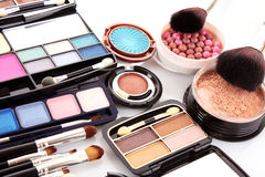 Many professional cosmetics royalty free stock photo