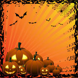 Many pumpkins for Halloween Stock Images
