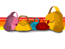 Many purses Royalty Free Stock Photo