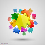 Many puzzle colors. Vector Royalty Free Stock Images
