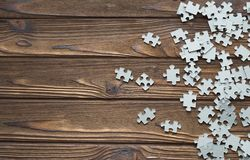 Many puzzles on the background Stock Images