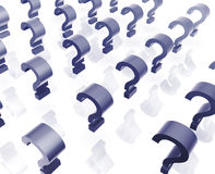 Many question marks Royalty Free Stock Photos