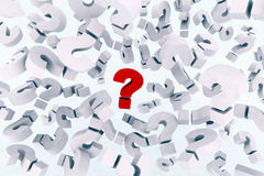 Many question marks Royalty Free Stock Photography