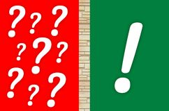 Question marks and exclamation mark Royalty Free Stock Photo