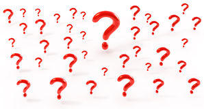 Many questions Stock Photography