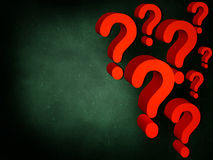 Many questions Royalty Free Stock Photography