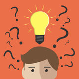 Many questions and insight Stock Photos