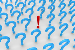 Many questions and one answer Royalty Free Stock Image