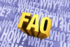 Many Questions, One FAQ Stock Photography