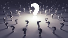 Many questions unanswered Stock Image
