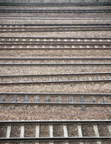 Many railroad tracks Royalty Free Stock Images