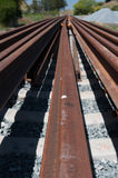 Many rails for a railroad track installation Stock Image