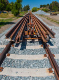 Many rails for a railroad track installation Stock Images
