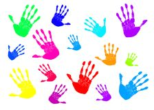 Many Rainbow Hands Stock Images