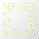 Many Random Falling Stars Confetti on Transparent Background. Royalty Free Stock Image
