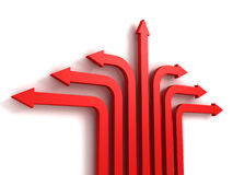 Free Many Red Arrows In Different Directions Stock Images - 37959434