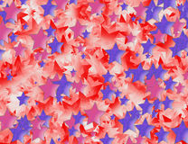 Many red and blue stars background Royalty Free Stock Images