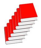 Many red book Royalty Free Stock Photo