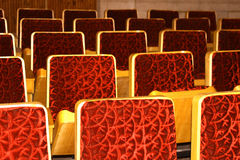 Many red chairs Royalty Free Stock Photos