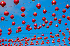 Many red Chinese lanterns Royalty Free Stock Photos