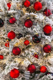 Many red Christmas baubles Stock Photography