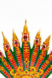 Many of the red dragon head. Pattern on the back green Royalty Free Stock Image