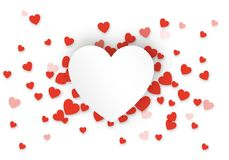 Valentine`s Day red heart background Stock Photo