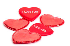 Many red hearts Royalty Free Stock Photography