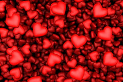 Many red hearts background Stock Image