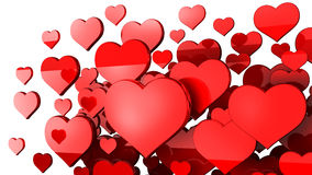 Many red hearts background. 3d Stock Photos
